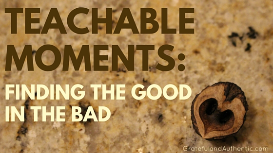 TEACHABLE MOMENTS FINDING THE GOOD IN THE BAD